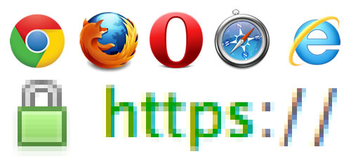 browsers and https