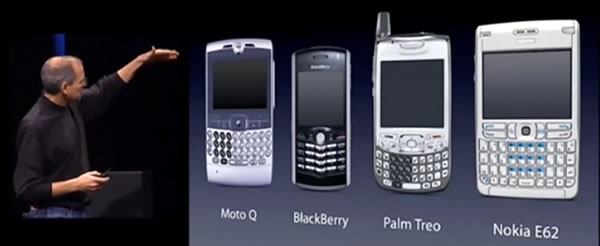 steve jobs and 2006-era smartphones
