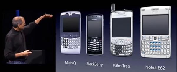 steve jobs and 2006-era smartphones