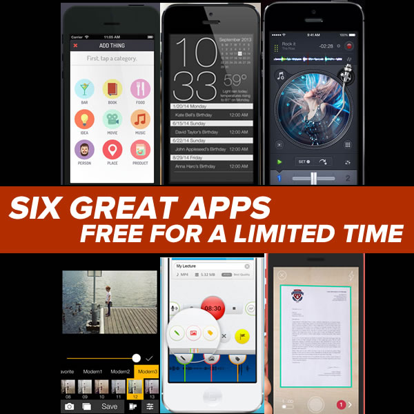 6 apps free for limited time