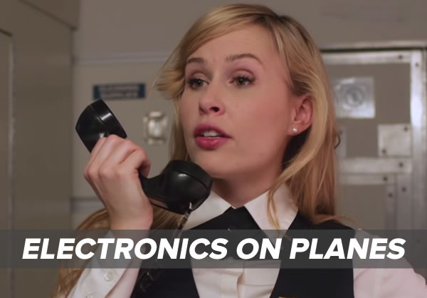 electronics on planes