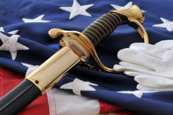 memorial day flag gloves sword
