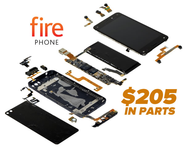 fire phone - 205 in parts