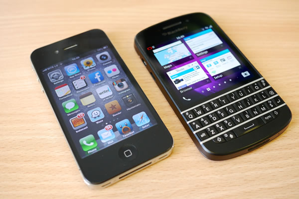 iphone and blackberry