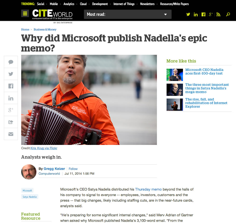 joey devilla in microsoft citeworld article