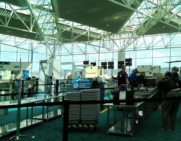 portland airport security gate
