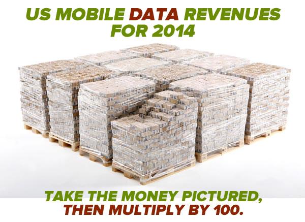 us mobile carrier revenues 2014b