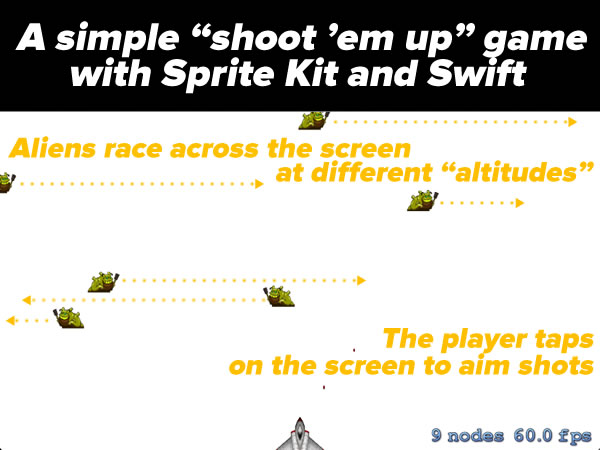 a simple shoot em up game