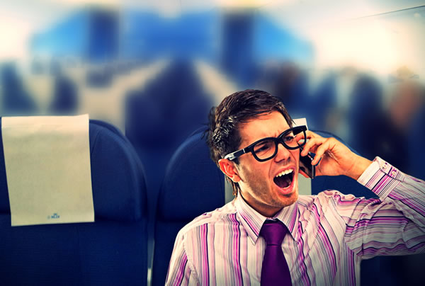 mobile phone on flight