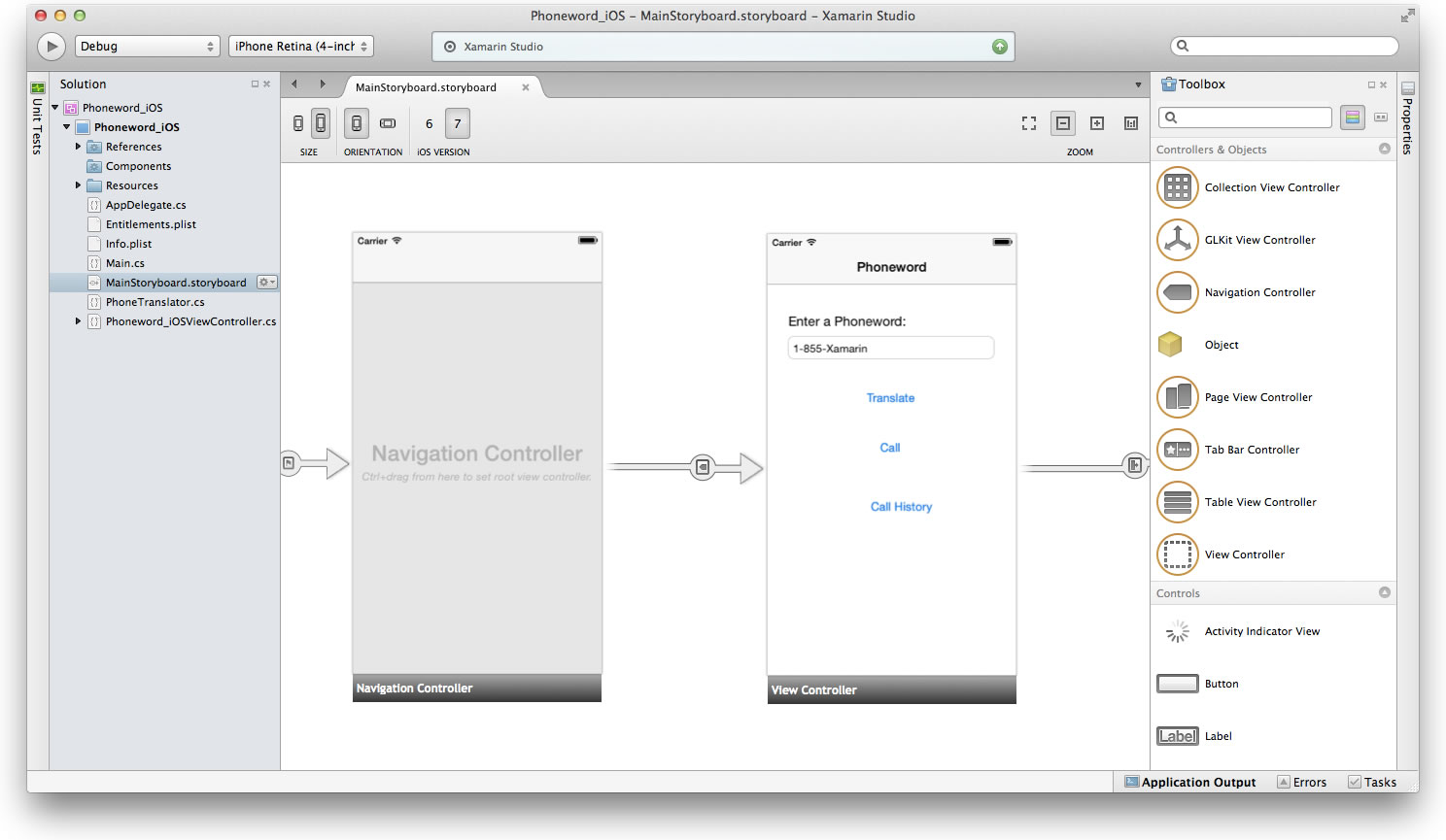 xamarin 3 interface