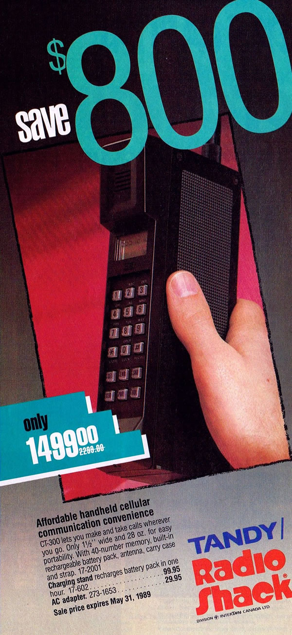 1989 Tandy cell phone