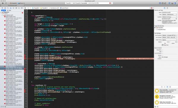 flappyswift code screencap