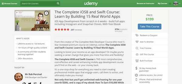 rob percival udemy course