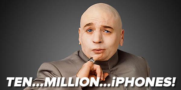 ten million iphones