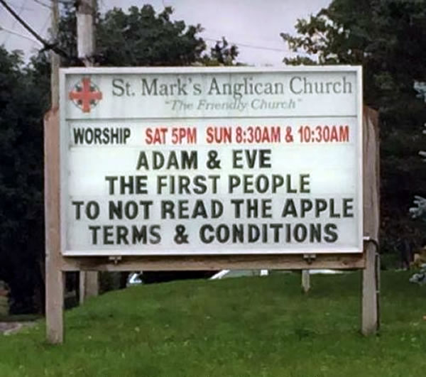 adam and eve - apple terms and conditions
