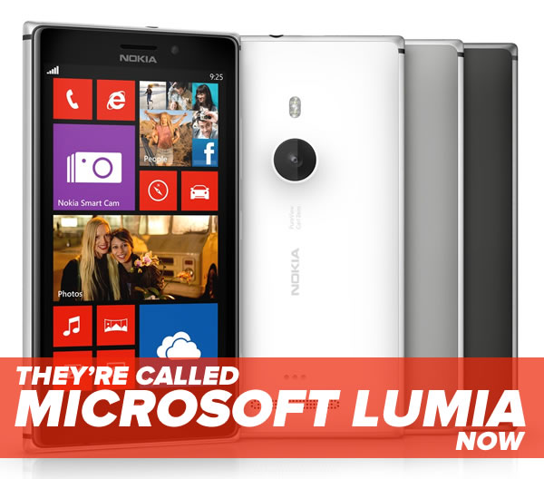 theyre called microsoft lumia now