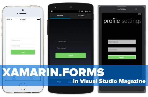 xamarin.forms in visual studio magazine