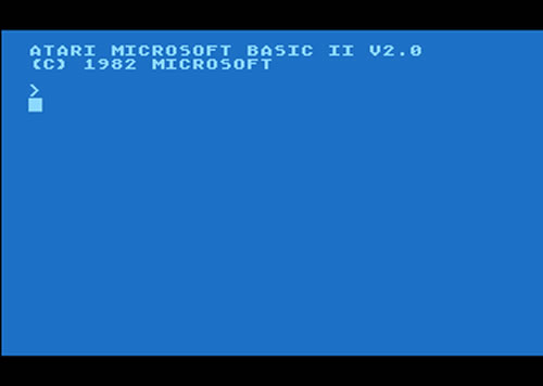 atari microsoft basic screen