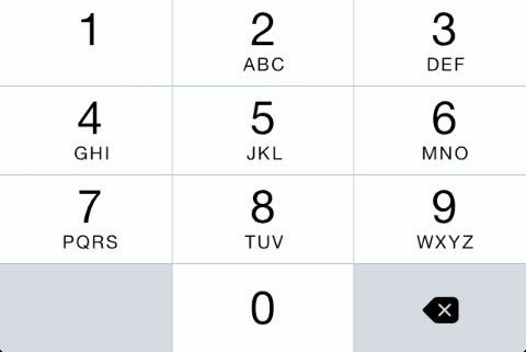 ios 8 iphone number pad