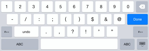 ipad number pad keyboard