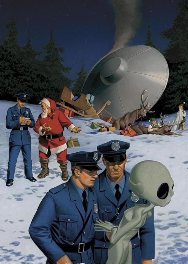 santa - ufo crash