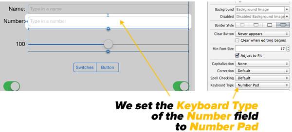 setting keyboard type