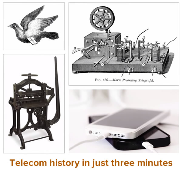 telecom history in just 3 minutes