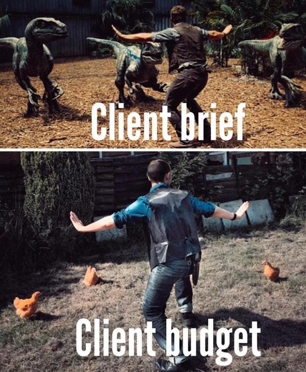 client brief v client budget