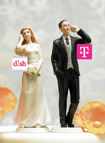 dish network t-mobile cake topper