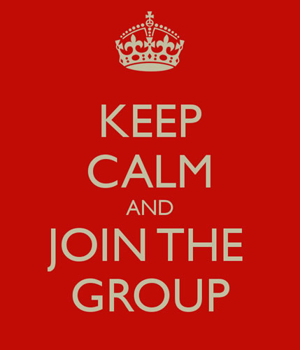 keep calm and join the group