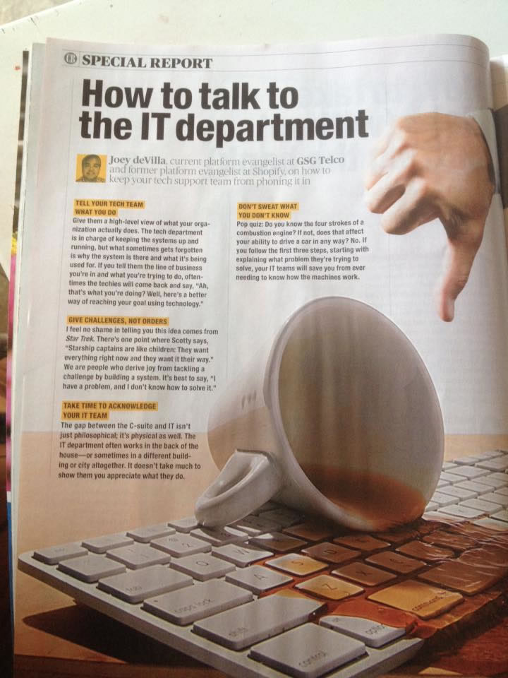 how to talk to the it department