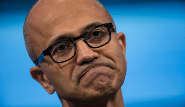 satya nadella unhappy face