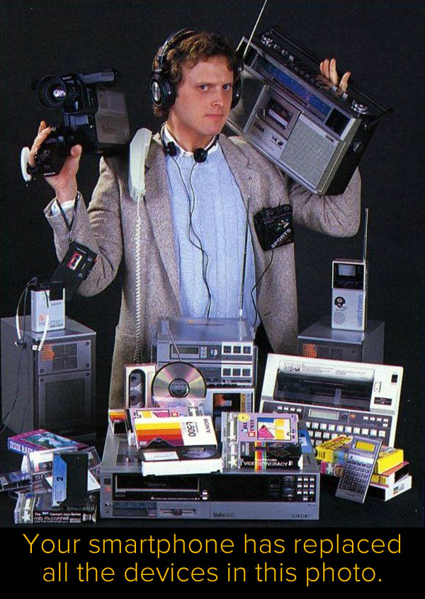 80s tech replaced by smartphone