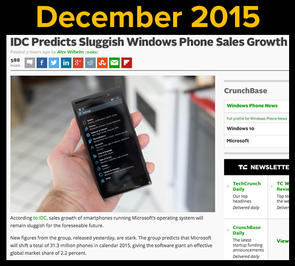 idc on windows phone sales march 2015