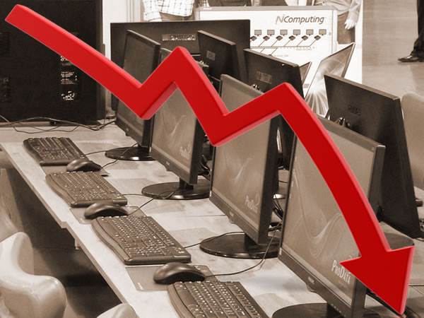downward pc trend