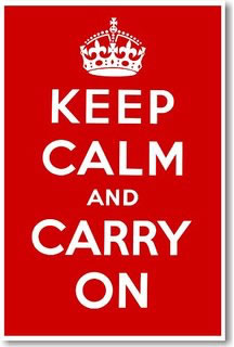 The classic 'Keep Calm and Carry On' poster.