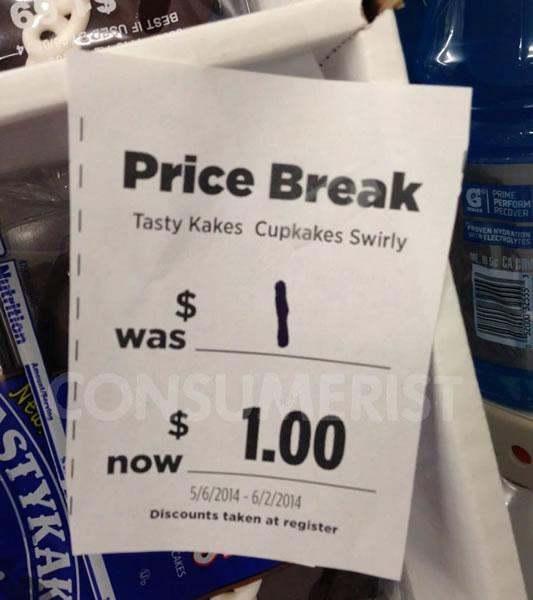 price break