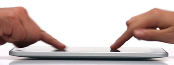 touching ipad screen