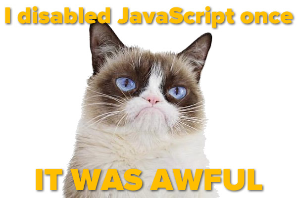 i disabled javascript once