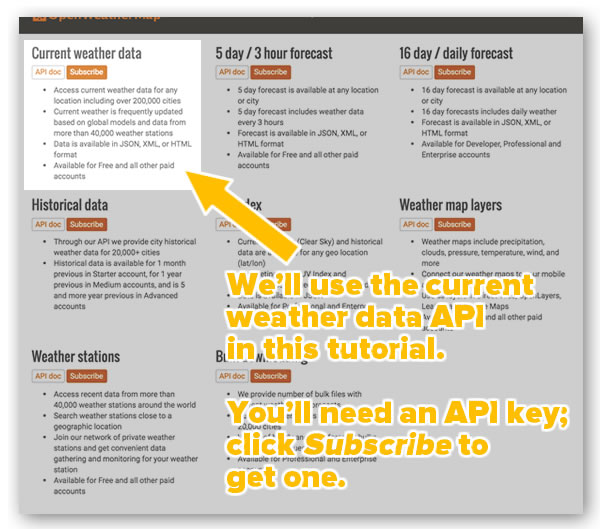 open weather maps how to get xml in api