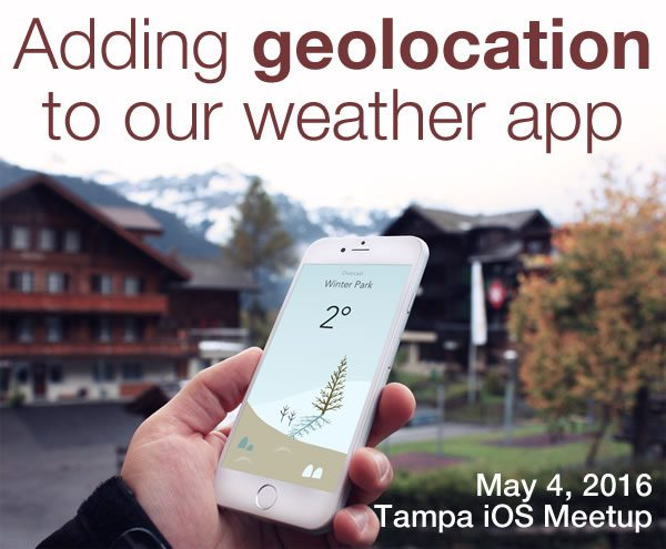 adding geolocation to our weather app