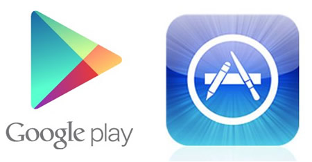 google play and app store