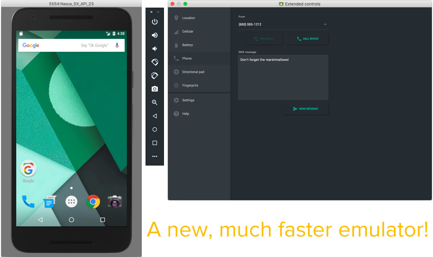 new android emulator