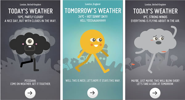 optimistic weather app