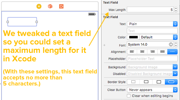 A better way to program iOS text fields that have maximum lengths
