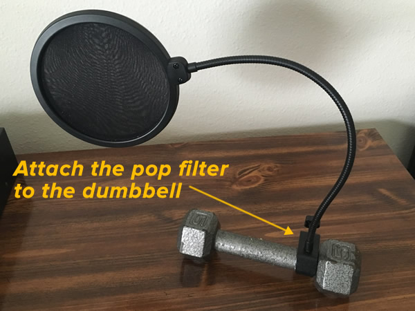 pop filter - dumbbell 1