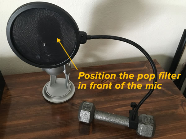pop filter - dumbbell 2