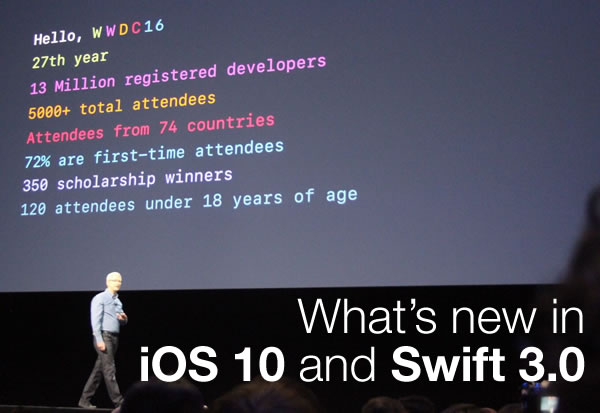 what's new in iOS 10 and swift 3