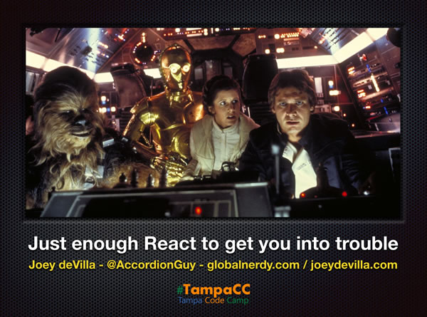 just enough react title slide