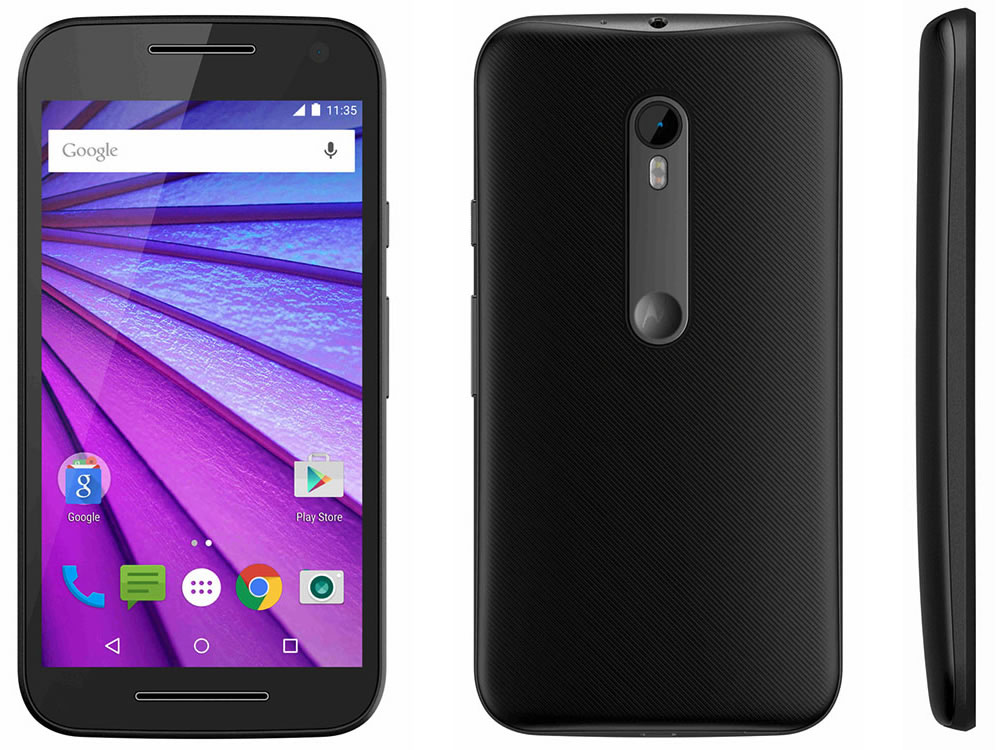 moto g 3rd gen front back side